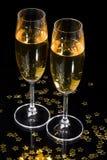 De fluiten van Champagne Stock Foto