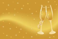 De fluiten van Champagne voor viering Stock Fotografie