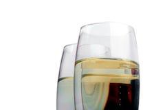 De fluitenclose-up van Champagne Stock Foto