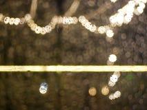 De focus装饰在汽车之外的市场光,有beautifu 库存图片
