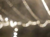 De focus装饰在汽车之外的市场光,有beautifu 免版税库存图片