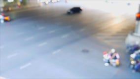 De focus del tráfico almacen de metraje de vídeo