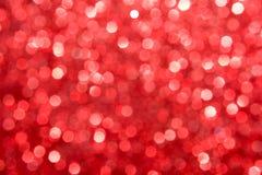De-focused blur red lights seven-edged textured xmas Stock Image