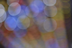 De-focused colored lights Stock Photography