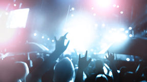 De-focused concert crowd Royalty Free Stock Photos