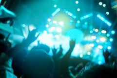 De-focused concert crowd. Concert background Royalty Free Stock Photography