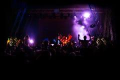 De-focused concert crowd. Closeup picture Stock Photo
