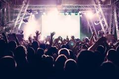 De-focused concert crowd. Closeup picture Stock Image