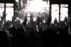De-focused concert crowd. Stock Photos