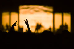 De-focused concert crowd. Royalty Free Stock Photo