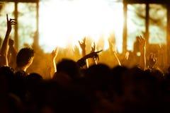 De-focused concert crowd. Stock Images