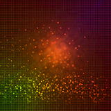 De focused glitter vintage lights background in brown red yellow. For art banner web design background Stock Photography