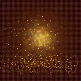 De focused glitter vintage lights background in brown red yellow. For art banner web design background Royalty Free Stock Photos