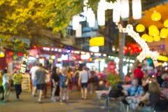 De focused of Khao San road, Thailand. Royalty Free Stock Photo
