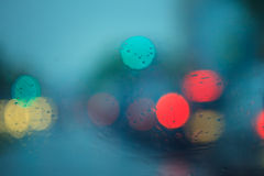 De focused traffic and lights Royalty Free Stock Photo