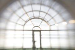 De-focuses business center interior, window. Blur background. Stock Image