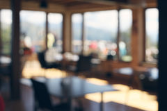 De-focuses cafe interior. Abstract blur background. Royalty Free Stock Image
