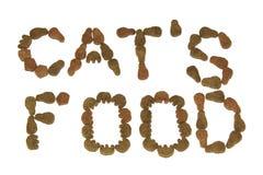 De foerage van de droge kat. Stock Afbeelding