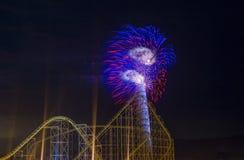 ô de fogos-de-artifício de julho Imagem de Stock Royalty Free