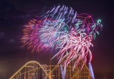 ô de fogos-de-artifício de julho Foto de Stock