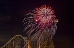 ô de fogos-de-artifício de julho Imagens de Stock Royalty Free