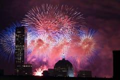 ô de fogos-de-artifício de julho Fotos de Stock