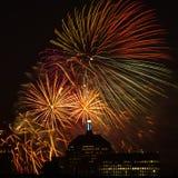ô de fogos-de-artifício de julho Foto de Stock Royalty Free