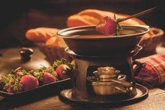 De fondue van de chocolade Royalty-vrije Stock Afbeeldingen