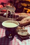 De fondue van de kaas Stock Foto