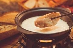 De fondue van de kaas Stock Foto's
