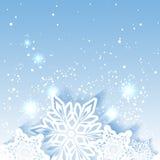 De fonkelende Achtergrond van de Kerstmissneeuwvlok Royalty-vrije Stock Afbeeldingen