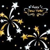 De fonkelende achtergrond van de Nieuwjaar` s Vooravond stock illustratie