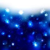 De fonkelende Blauwe Achtergrond van de Sterviering stock illustratie