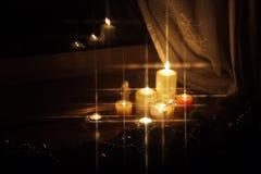 De fonkelende kaarsen van Kerstmis Royalty-vrije Stock Fotografie