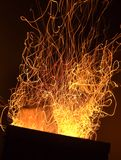 De fonkelingen van de brand Stock Afbeelding