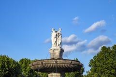 De Fontaine DE La Rotonde fontein stock afbeeldingen