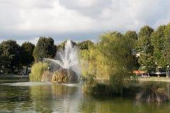 De fontein in de tuin van Fortezza DA Basso Florence Italië royalty-vrije stock foto