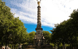 De Fontein du Palmier 1750 - 1832 in Place du Chatelet, Parijs royalty-vrije stock foto
