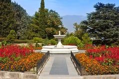De fontein in het park royalty-vrije stock fotografie
