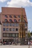 De fontein Nurnberg van Schonerbrunnen Royalty-vrije Stock Foto