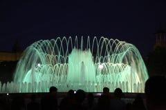 De fontein van Barcelona Stock Foto