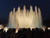 De fontein van Barcelona Stock Fotografie
