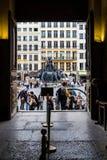 De fontein van Bartoldi in Lyon stock afbeeldingen