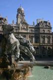 De fontein van Bartoldi in Lyon Stock Foto
