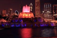 De Fontein van Buckingham, Chicago Stock Afbeeldingen