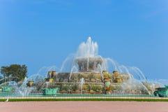 De Fontein van Buckingham in Chicago stock foto