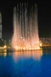 De fontein van Burjkhalifa Royalty-vrije Stock Afbeeldingen