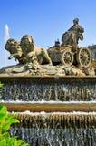 De Fontein van Cibeles in Madrid, Spanje Royalty-vrije Stock Fotografie