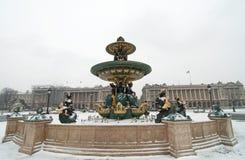 De fontein van Concorde. Parijs Stock Foto