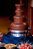 De fontein van de chocolade Stock Afbeelding